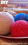 DIY Decorative Rope Balls with inexpensive clothes line! Dye it any color for a very beautiful, and frugal decoration!