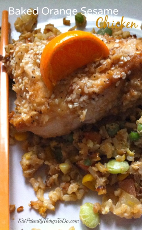 Baked Orange Sesame Chicken - KidFriendlyThingsToDo.com