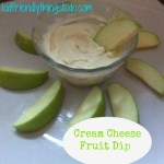 Simple Cream Cheese Fruit Dip