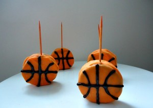 Basketball Cookies On A Stick