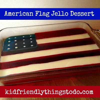 American Flag Jello Dessert