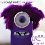 Despicable Me 2 Evil Purple Minion Gift Bag Idea!