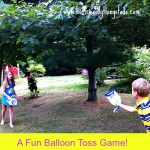 A Water Balloon Toss Game Using Recycled Milk Jugs