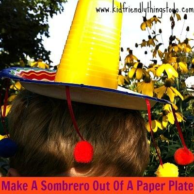 Make A Paper Plate Sombrero