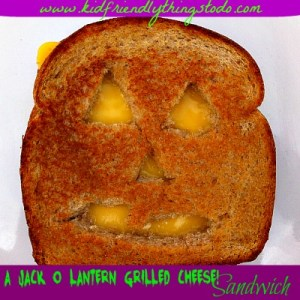 Reinvent the Grilled Cheese Sandwich! This is so much fun, and so easy to do! Change up the classic grilled cheese by making it into a Jack-O-Lantern!