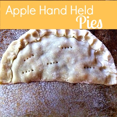 Individual Hand Held Apple Pies! A perfect fall dessert!