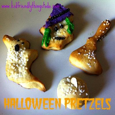 Shape Soft Pretzel Dough Into Halloween Shapes For A Fun & Spooky Halloween Party Snack!