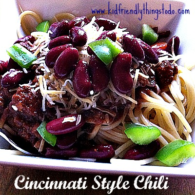 Cincinnati Style Chili - This chili is so much fun! You would never guess that chocolate is one of the ingredients! Serve it over spaghetti noodles, and load it up with toppings! Great game night dish!