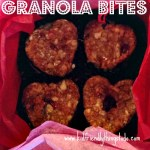 A Healthy Valentines Day Breakfast - or any day breakfast! Granola Bites!