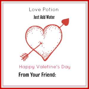 Love potion printable - pair it with a single packet of drink mix and water! Free Printables!