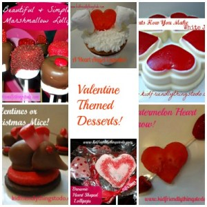 Lots of Valentine Themed Desserts