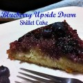 Upside Down Blueberry Skillet Cake