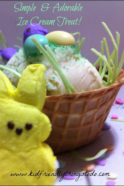 A cute and simple kid's dessert for Spring or Easter!