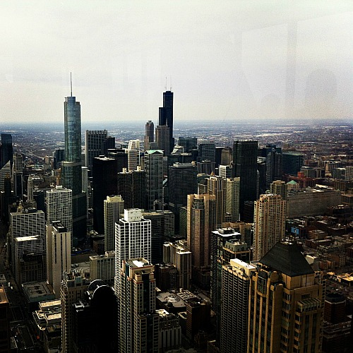 The beautiful city of Chicago from the Hancock Building