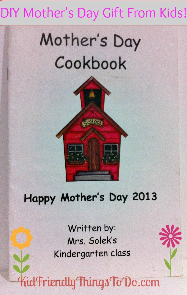 Mother S Day Cookbook Cover : Diy mother s day cookbook gift from kids