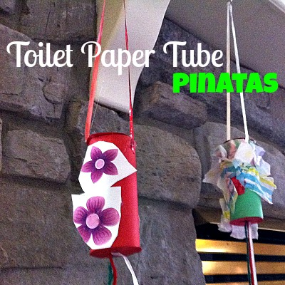 Toilet Paper Tube Pinatas! You could stuff these with confetti, toys, or candy! Great idea for Cinco De Mayo, birthday parties, New Years Eve, etc...!