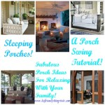 DIY Sleeping Porch Swings, and more! I love these porches!