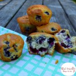 Semi-Homemade Blueberry Muffins. Use a pancake or muffin mix to make this short cut delicious blueberry muffin! - KidFriendlyThingsToDo.com