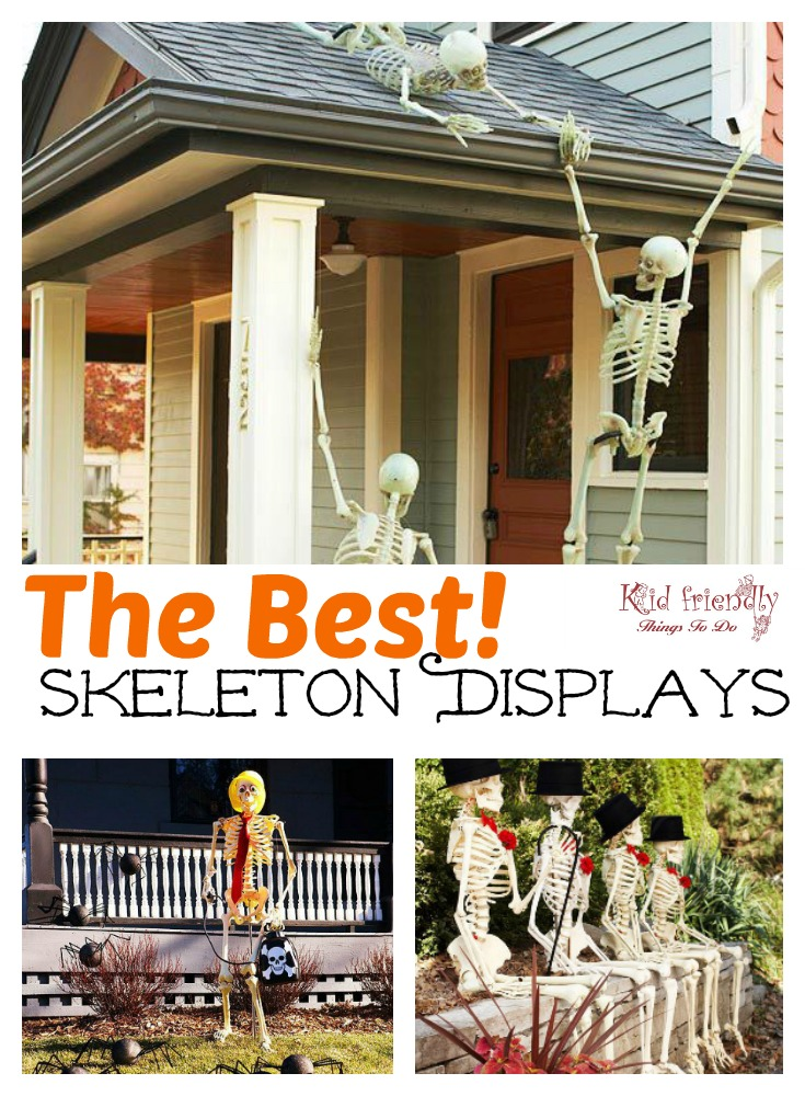 The most Hilarious DIY Skeleton Yard Displays for Halloween Decoration - www.kidfriendlythingstodo.com