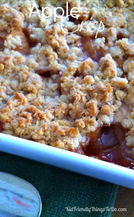 Delicious Apple Crisp Recipe - KidFriendlyThingsToDo.com