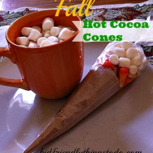 Easy Peasy! And so adorable! Make these Fall themed hot cocoa cones for Halloween, or Thanksgiving parties!