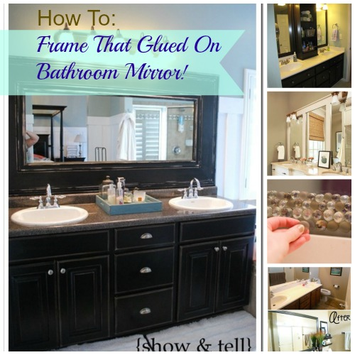DIY Glued On Mirror Makeover