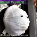 DIY Mummy Wreath - perfect for Halloween!