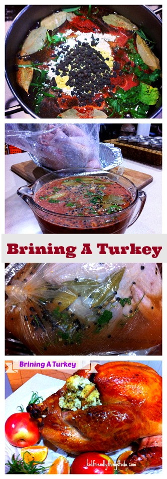 Brine locks the moisture in so your turkey stays moist, tender, and juicy