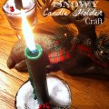 Turn any glass into a snowy candle holder with Epsom Salt! What a simple craft and great decoration for Christmas!