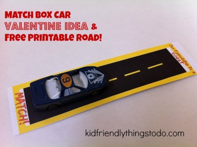 Kids will think this Matchbox Non Candy Valentine Idea is pretty cool! It even comes with a Free Printable Road Valentine Card! Pretty awesome, they can play with their new car and card!