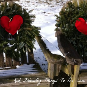 Updated my wreaths from Christmas to Valentine's Day by adding plush hearts in the middle!