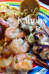 Ginger & Lemon Marinade For Kabobs - It's so nice to know that dinner is already in the fridge, and ready to go! Make a side, and you're done!