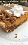 This Pumpkin Pie Recipe has it all! Sour cream and pumpkin batter. Pecan and gingersnap streusel! Seriously amazing pie. KidFriendlyThingsToDo.com