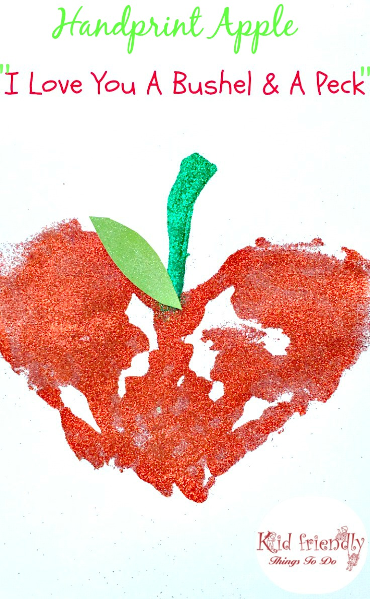apple handprint craft for back to school valentines day mothers day and fall fun - Valentines Day With Kids