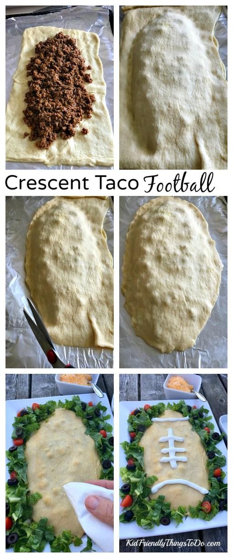 Crescent Taco Football Game Day Recipe - KidFriendlyThingsToDo.com
