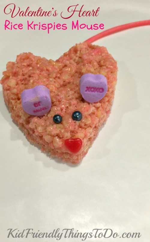 Valentines Rice Krispies Treats Mice - The cutest mice ever! KidFriendlyThingsToDo.com