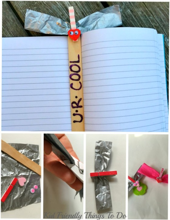 Love Bug Valentine Book Mark Craft - KidFriendlyThingsToDo.com