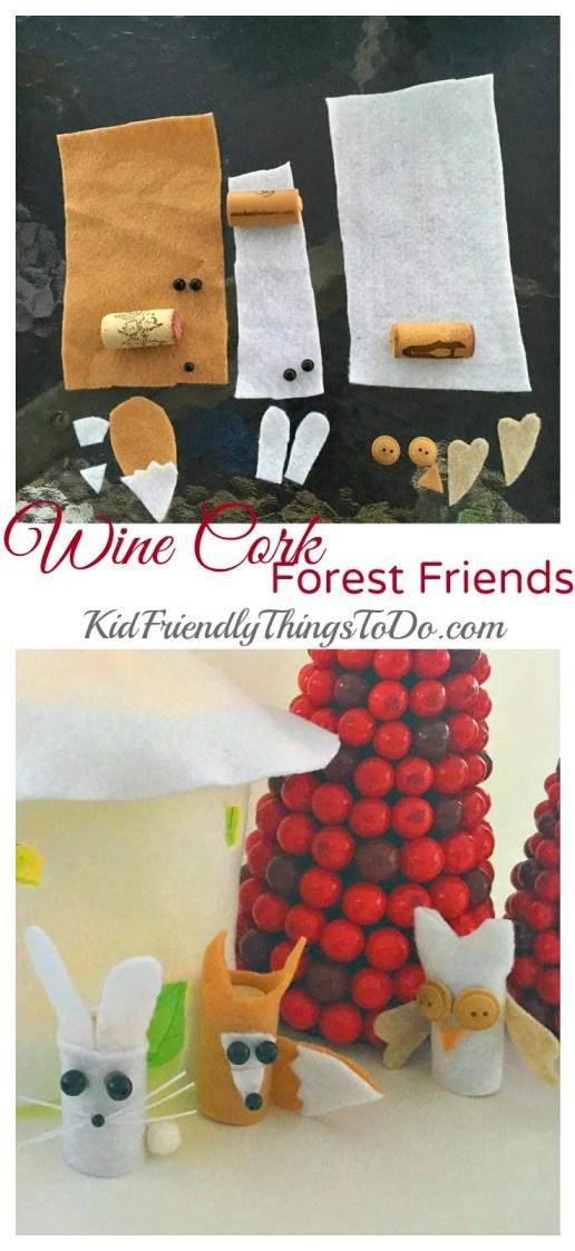 Wine Cork Forest Animal Craft - KidFriendlyThingsToDo.com