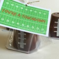 Last minute Valentine idea - You're A Touchdown with printable - KidFriendlyThingsToDo.com