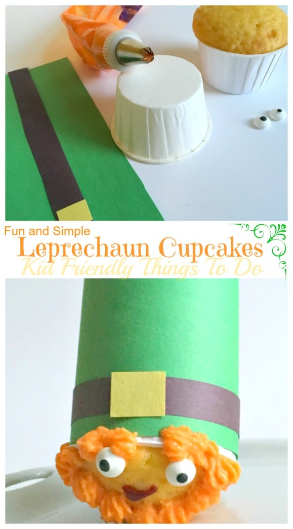 A St. Patrick's Day Leprechaun Cupcake Fun Food Idea - KidFriendlyThingsToDo.com