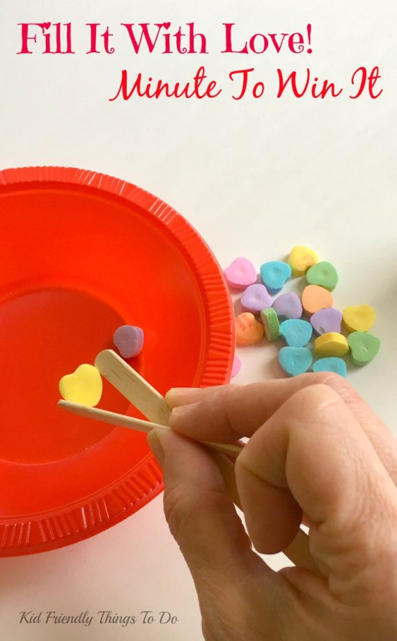 Our Minute To Win It Valentine's Day Party Games! - KidFriendlyThingsToDo.com