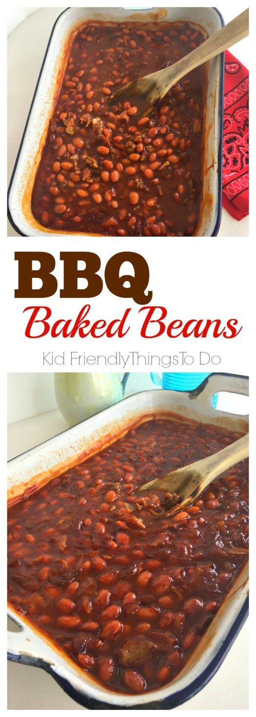 The best barbecue baked beans! Perfect for potlucks, holiday dinners and summer backyard picnics! - KidFriendlyThingsToDo.com