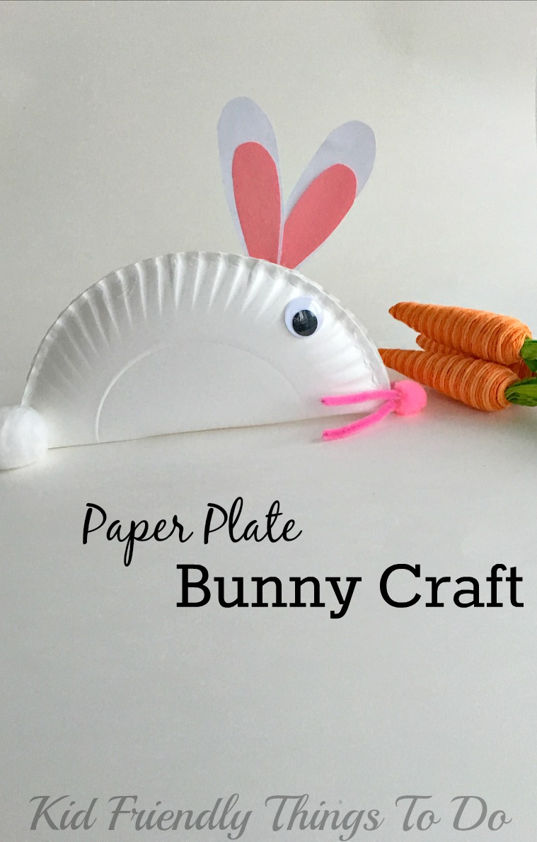 easy paper bunny craft diy paper plate chicken easter basket craft for 4371