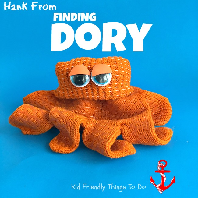 Hank the Octopus from Finding Dory Craft! This is so cool. Perfect for your Ocean Themed or Finding Dory birthday party with kids! KidFriendlyThingsToDo.com