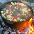 Rustic Sausage and Cheese Tortellini Soup. Perfect for the campfire or cold nights! KidFriendlyThingsToDo.com
