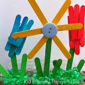 A Popsicle Stick Craft - Making A Garden of Flowers