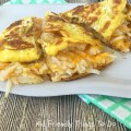 Amazing Cheesy Hash Brown Omelet Recipe - An easy and delicious family breakfast. KidFriendlyThingsToDo.com