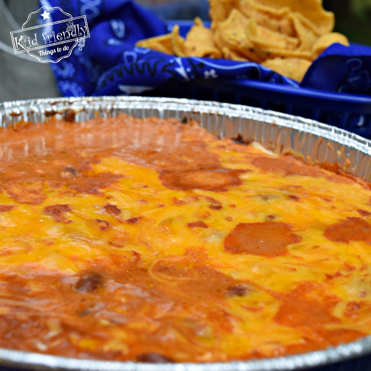 Three Ingredient Bean and Cheese Campfire or Backyard Grill Dip