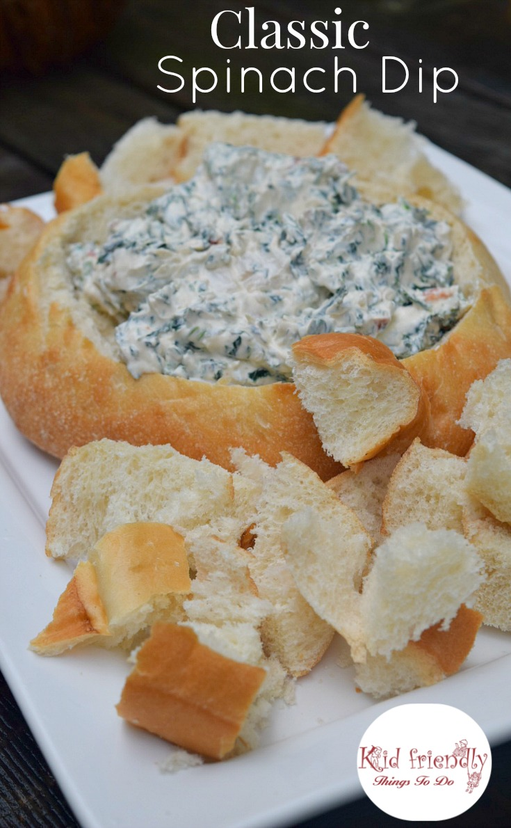 recipe: spinach dip in bread bowl with cream cheese [37]