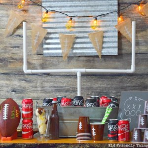 Football Watch Party Ideas and Football Cup Cozies! Games, Food and more! Such fun ideas in this post! - www.kidfriendlythingstodo.com